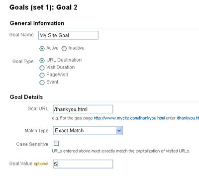 Goals in Google Analytcis